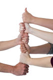 People stacking their fists Stock Photography