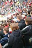 People in stadium stock photography