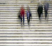 People in staircase Royalty Free Stock Images
