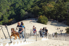 People on the stairs, Dune of Pyla Royalty Free Stock Photography