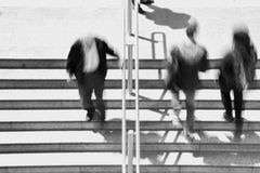 People stairway blur Stock Photo