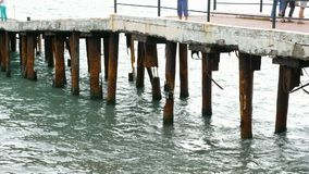 Rusty pier supports.