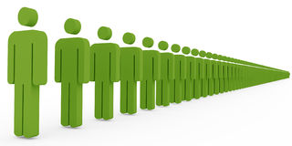 People stand in row. 3d People stand in row Royalty Free Stock Photography