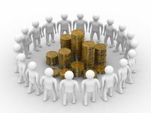 People standing around of money Royalty Free Stock Photos