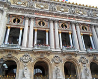 People standing on the balcony The Palais Garnier. Paris Opera House in Paris, France Royalty Free Stock Photos