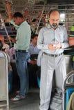 People are standing inside of carriage, Mumbai Stock Photos