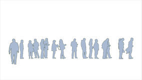 People standing in line Royalty Free Stock Photography