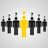 People standing, man with an idea Royalty Free Stock Images