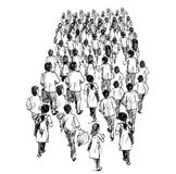 People standing in queues Royalty Free Stock Photos