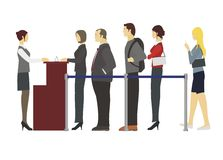 People standing in a row stock illustration