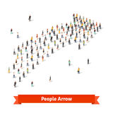 People standing together in shape of an arrow Royalty Free Stock Image