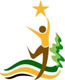 People star logo stock illustration