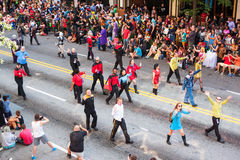 People In Star Trek Costumes Walk At Dragon Con Parade Royalty Free Stock Photo