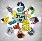 People and Startup Business Concepts Royalty Free Stock Images