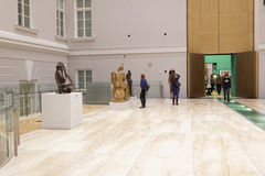 People in the State Hermitage Museum, St. Petersburg, Russia Stock Image
