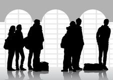 People at the station Royalty Free Stock Photo