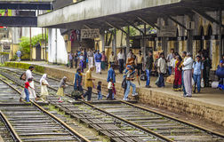 People at Station Hutton by riding the scenic mountain track Royalty Free Stock Photo