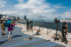 People statues Avenue of Stars  Kowloon Hong Kong Royalty Free Stock Photography
