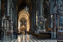 People in Stephansdom, St. Stephen's Cathedral in Vienna Austria Stock Images