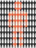 People stick figure background Stock Image