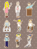 People stickers Stock Image