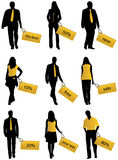People and stickers Royalty Free Stock Image