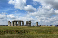 People at Stonehenge. Tourists visiting Stonehenge site in England stock photography