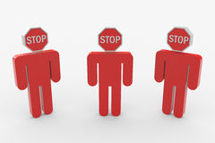 People. Stop sign replacing head. Stock Image
