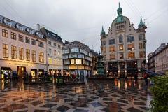 People at Stork Fountain in Copenhagen, Denmark Stock Photography