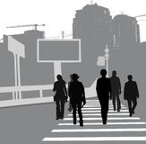 People on the street vector illustration