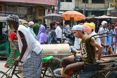 People on street in Amritsar, India Royalty Free Stock Photos