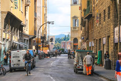 People on the street of the ancient Italian city Florence, Italy Royalty Free Stock Photos