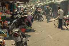 People on the street of asian country - Vietnam and Cambodia Royalty Free Stock Photos