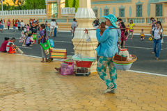 People on the street of asian country - Vietnam and Cambodia Stock Images