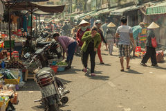 People on the street of asian country - Vietnam and Cambodia Royalty Free Stock Images