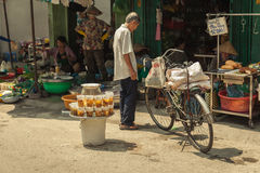 People on the street of asian country - Vietnam and Cambodia Royalty Free Stock Photo