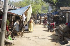 People at the street in Bandarban, Bangladesh. Stock Photography