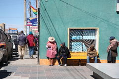 People in a street of Bolivia Stock Photo