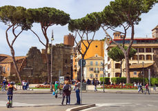 People on the street in central Rome, Italy Stock Photo