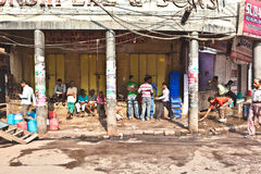 People on the street of Chawri Bazar, the wholesale market of  O Stock Photography