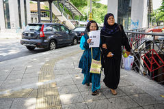 People the street in Chinatown, Kuala Lumpur Stock Images