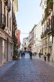 People on street Corso Andrea Palladio Royalty Free Stock Photography