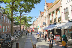 People on the street  in Dordrecht, Netherlands Royalty Free Stock Photos