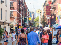 People at a street festival in little Italy , New York City Royalty Free Stock Photography