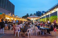 People street food court  Singapore Royalty Free Stock Image
