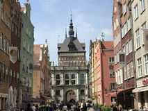 People in the street of Gdansk Royalty Free Stock Photography