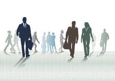 People on street. An illustration of people on a street stock illustration