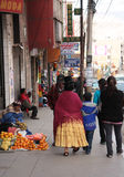 People in a street of La Paz, Bolivia Stock Images