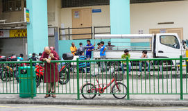People on street in Little India, Singapore Stock Photography