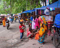 People at the street market in Gaya, India Stock Photo